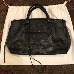 Black Balenciaga Classic Work Bag